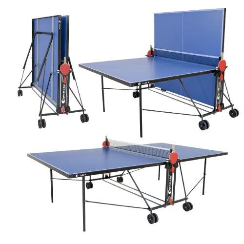 Sponeta Zusammenklappbare Tischtennisplatte für draußen, inklusive Netz, Schlägern, Bällen und Herstellergarantie für 2 Jahre