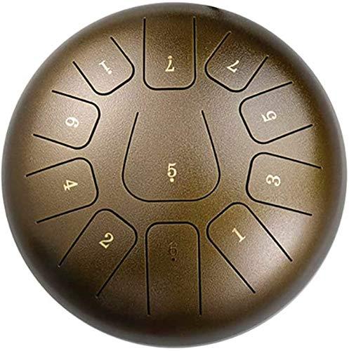 Tambor de Lengua de Acero, Instrumento de percusión de tambores de acero | Tambor etéreo de 11 tonos |Tambor de la lengua de acero C-Minor de 10/12 pulgadas | instrumento de panderezal de la música ||