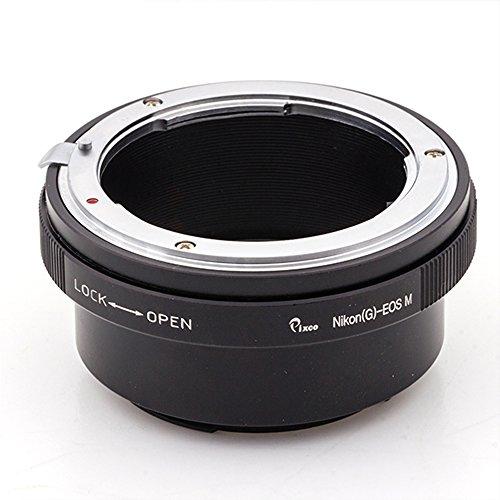 Pixco Adaptador de lente de control de Iris integrado para objetivo Nikon F Mount G a cámara Canon EOS M M10 M3 M2 M1 (Nikon G-Canon EOS M)