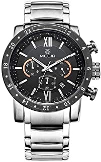 Megir Analog Watch for Men with Alloy Strap, MS3008G-1