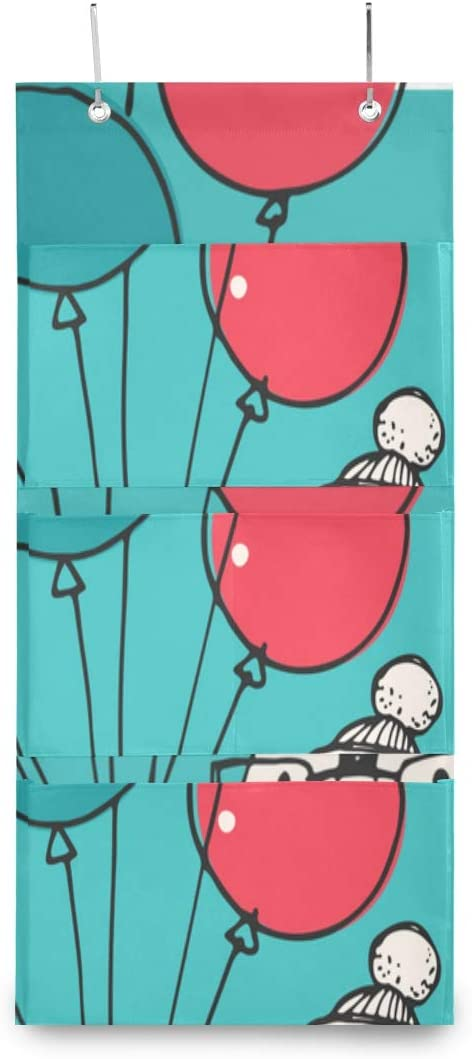 XDCGG Hanging Storage Bag Cute Doodle Chicago Mall Cheap SALE Start Penguin Balloons Nur Merry