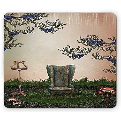 Alfombrilla de ratón Vintage, lámpara de sillón de sofá Antiguo Antiguo Retro...