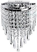 TOOGOO Moderne kristallen wandlamp chroom wandlamp wandlamp voor woonkamer badkamer huis interieur verlichting decoratie