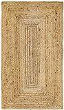 HAMID Tapis Jute Naturel - Alhambra Tapis 100% Fibre de Jute (Naturel, 80x150cm)