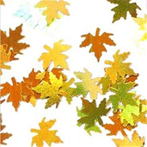 Maple Leaf Flake pailletten nagel glitter holografische geel rood pailletten verloop herfst Paillette nagel Art Decor 8g Goud Geel