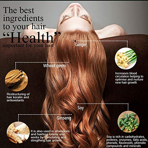 Líquido para el cuidado del cabello, spray para el crecimiento del cabello, suave, confiable, duradero, sin estimulación, sin aceite de silicona, hogar para el cabello