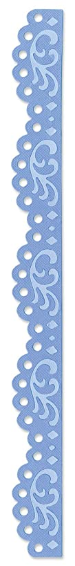 Sizzix 657413 Sizzlits Decorative Strip Die, Vintage Lace Edging by Scrappy Cat, Blue