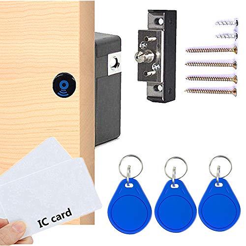 Elektronisches Schrankschloss, RFID Elektronisches Schrankschloss, verstecktes DIY-Schloss, elektronisches Sensorschloss, stanzfrei, Spindschloss, Schrankschloss, Schubladenschloss (Blau)