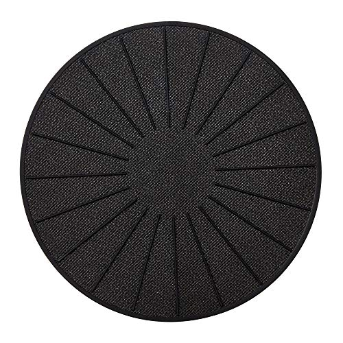 Lazy K Induction Cooktop Mat - Silicone Fiberglass Magnetic Cooktop Scratch Protector - for Induction Stove - Non slip Pads to Prevent Pots from Sliding during Cooking (9.4 inches) Black