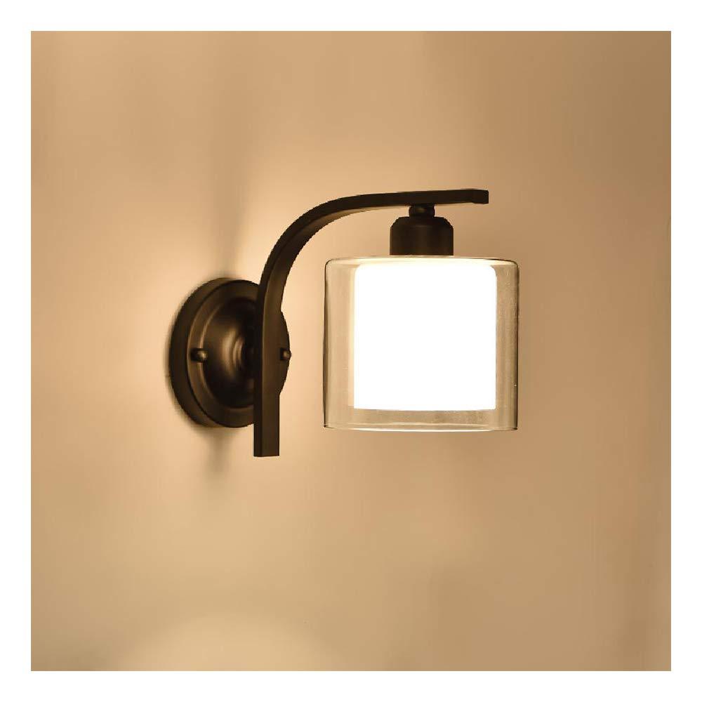 YEE Aplique Luz a la Pared Interior Modernos para Sala de Estar Dormitorio Comedor Pasillo Escalera Balcon luz Blanca cálida,Black-5W White Light: Amazon.es: Hogar