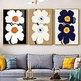 dsdsgog Poster di Fiori Immagini di Piante Colorate Immagini a Parete per Soggiorno Stampe su Tela Decorazioni per la casa Quadri Moderni Poster 60x90cmx3 Senza Cornice