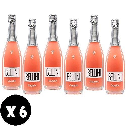 BELLINI 75 CL BASE DE VINO Y PESCA BLANCA 6 BOTELLAS