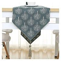 テーブルランナー モダンなファッションフラワーテーブルクロスパーティーの結婚式の装飾布竹のカーバス布テーブルランナークロスカバー (Color : 22, Size : 30X240CM)