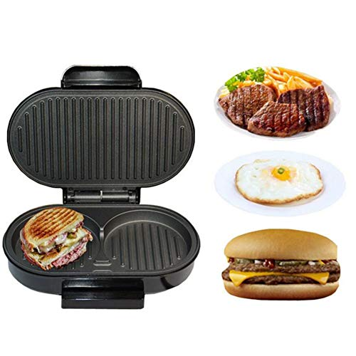 HKDJ-thuis Mini panini sandwichmachine, elektrische braadpannen-hamburgers, steak steak-braadpan, eierkoker, 750 W