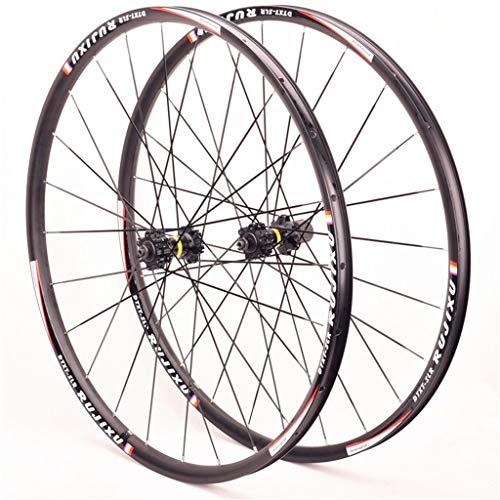 NS Ultraligero 700C Bicicleta Carretera Juego De Ruedas Aleación De Aluminio Doble Capa 25 Mm Hub Profundo del Freno Disco Seis Hoyos/Center Lock Actuación (Color : A, Size : 700CC)