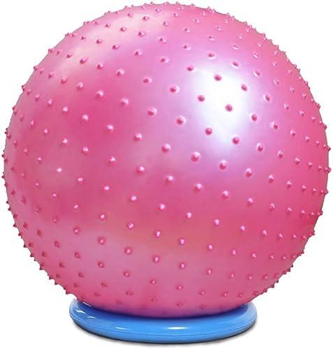 Garder la forme Ballon de yoga pour le massage des tissus profonds EVA Ballon d'exercice anti-éclatement de Pilates Ballon d'exercice robuste de 65 cm - 85 cm Fitness ( Couleur   rose , Taille   65cm )