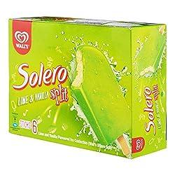 Solero Spilt Lime Multipack Ice Cream Stick - Frozen, 64ml (Pack of 6)