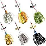 Fishing Spinnerbait Lures Buzzbait Trout Salmon Metal Spinner Baits Jig Fishing Lure Mixed Colors...