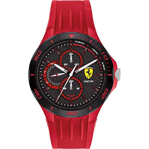 Scuderia Ferrari Pista Analog Black Dial Men's Watch-0830723