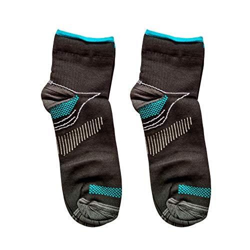 tianxiangjjeu Calzini a compressione unisex antidolorifici antibatterici comodi calzini alla caviglia arco del piede nero blu