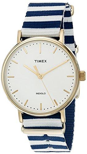 Timex Women's TW2P919009J Weekender Fairfield Quartz Brass and Nylon Blue Watch