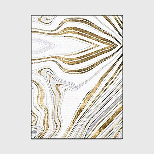 G.Y.XUAN Carpet stylist gold, fashion lines, stone pattern, velvet 3D crystal, decorative, washable, for bedroom, living room (Couleur : 1, Expédié De : CHINA)