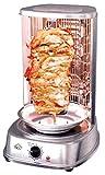 DCG Eltronic MB1022 Grill da Tavolo Elettrico 1200W Acciaio Inossidabile Barbecue e bistecchiera