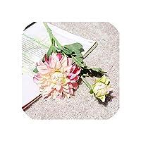 右店リアルタッチラテックスダリアの花の枝結婚式のための人工花秋の装飾マリアージュフローレスアーティファクトフルール、D