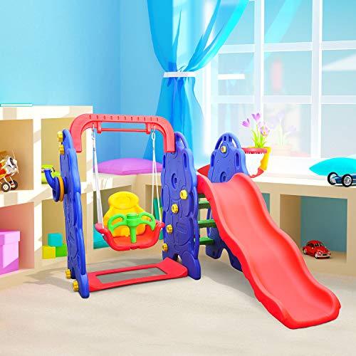 HOMCOM Kinderrutsche Kinder Rutsche Spielzeug Slide Gartenrutsche Babyrutsche (Elefantrutsche mit Schaukel) - 5
