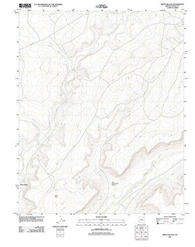 Arizona Maps - 2011 Wepo Village, AZ - USGS Historical Topographic Wall Art - 44in x 55in