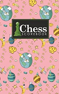 Chess Scorebook: Chess Notation Book, Chess Records Book, Chess Score Sheets, Chess Match Log Book, Record Your Games, Log Wins Moves, Tactics & ... Space Cover (Chess Scorebooks) (Volume 80)
