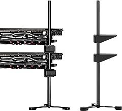6amLifestlye GPU Holder Soporte FAI-da-Te para Tarjeta gráfica Individual o Doble, GPU Vertical Stand Negro