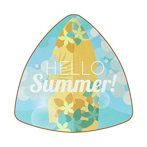 Bennigiry Juego de 6 posavasos de verano para tabla de surf y bebidas, resistentes al calor
