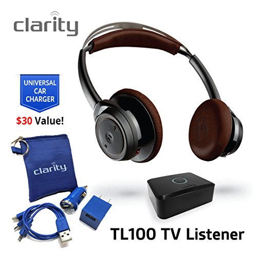 Clarity TL100 Wireless Bluetooth Over-Ear Sound Amplifying Headphones