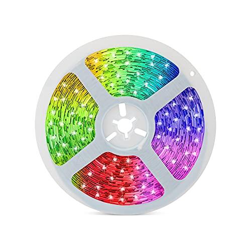LED Strip 5m, RGB LED Streifen, Band Lichter, RGB 5050 Lichtleiste Light, Lichtband Leiste für Beleuchtung Haus, Party, Küche