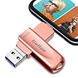 Gulloe USB 3.0 Flash Drive 512GB Intended for iPhone, USB Memory Stick External Storage Thumb Drive Photo Stick Compatible with iPhone, Android, Computer (Rose Gold)