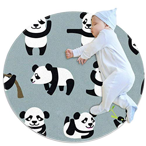 chuangxin Multi Action Baby PandaBaby kruipkussen voor jongens en meisjes – Game deken vloer tapijt kinderkamer decoratie, 27.6x27.6IN