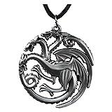 Game of Thrones Targaryen Dragon Die-Cast Pendant Necklace