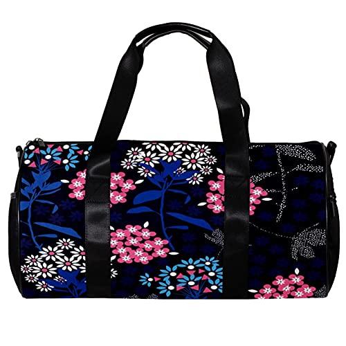 Bolsa de viaje para mujeres y hombres, flor brillante, banquete, deportes, gimnasio, bolsa de viaje durante la noche, bolsa de equipaje al aire libre