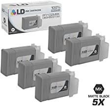LD Compatible Ink Cartridge Replacement for Canon PFI-102MBk 0894B001AA (Matte Black, 5-Pack)