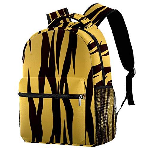 Mochila de viaje informal con diseño de tigre marrón