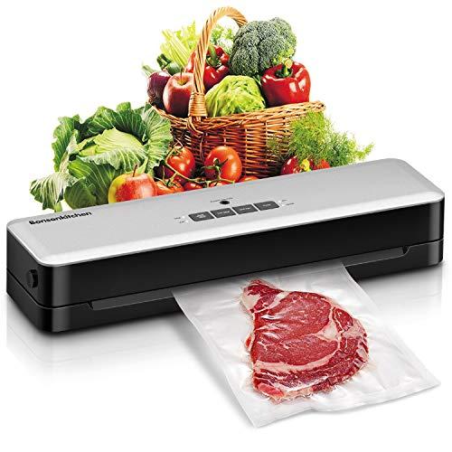 Macchina Sottovuoto per Alimenti, Bonsenkitchen Sigillatore Automatico Sottovuoto per alimenti freschiecchi che umidi