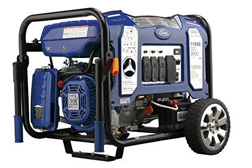 ford gas generators Ford 11,050W Dual Fuel Portable Generator with Switch & Go Technology and Electric Start, FG11050PBE