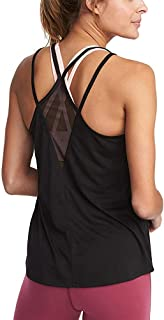 Mippo Womens Cute Mesh Workout Clothes Yoga Tops Exercise Gym Shirts Running Tank Tops