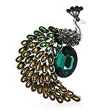 Broches para mujeres, estilo vintage chispeante Rhinestone Crystal Lapel Pin Jewelry regalos para bodas Party Banquete (Size : 1)