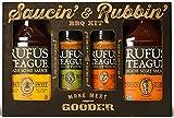 Rufus Teague: Saucin' & Rubbin' Gift Pack - Premium BBQ Sauce & Dry Rubs - Natural Ingredients - Award Winning Flavors - Gluten-Free, Kosher, & Non-GMO