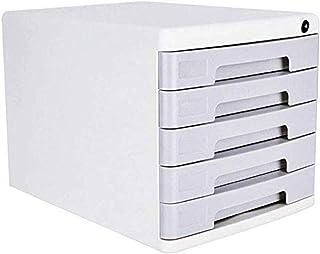 Armoire à clés, 5 tiroirs, boîte de rangement en plastique, 27 x 35,3 x 26 cm, meuble de bureau (couleur : gris), couleur...