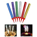 Birthday Candle, Cake Candles Used for Birthday Cakes, Weddings, Bottle Services, Restaurants, Anniversaries, Parties(12 Pack, 6 Colors)