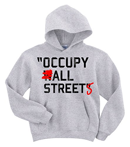 Bezette alle straten hiphop hoodie trui (as grijs)