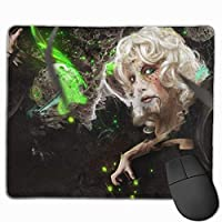 """Abstraction Girl Green Black Mouse Pad Non-Slip Rubber Gaming Mouse Pad Rectangle Mouse Pads for Computers Desktops Laptop 9.8"""" x 11.8"""""""